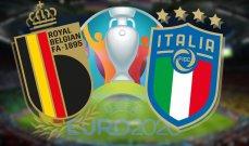يورو 2020: أرقام وحقائق عن ايطاليا وبلجيكا