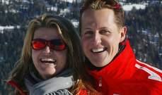 زوجة شوماخر ترد على إدعاءات مدير أعماله