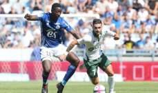 الدوري الفرنسي: سانت إتيان يعود بنقطة من ستراسبورغ
