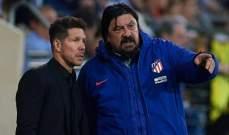 بورغوس يترك منصبه في اتلتيكو مدريد