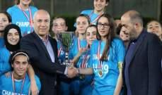 فتيات الاخاء الاهلي عاليه يحرزن لقب الدوري لاول مرة في مسيرتهن