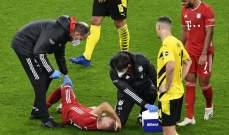 اصابة جوشوا كيميتش وخروجه من الملعب باكيا