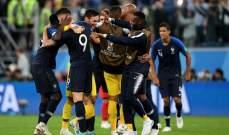 ابرز احصاءات مباراة فرنسا امام بلجيكا