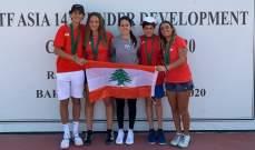 بطولة غرب ووسط آسيا للناشئين بالتنس: لبنان يستأثر بالقاب الدورة الثانية ايضاً