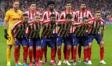 أتلتيكو مدريد يُخضع لاعبيه لفحص كورونا  قبل استئناف التدريبات