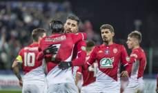 كأس فرنسا: موناكو الى الدور المقبل بثلاثية في مرمى سان بريفي