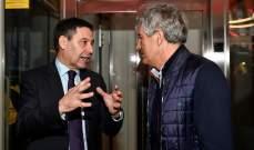 إجتماع مرتقب بين رئيس برشلونة ومدرب الفريق سيتيين