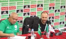مدرّب منتخب الجزائر: لا يوجد لاعبين محليين يستحقون اللعب مع المنتخب