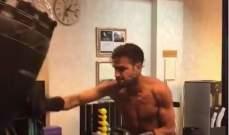 سيسك فابريغاس يتدرب على الملاكمة