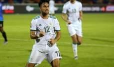 وناس أفضل لاعب في مباراة الجزائر وتنزانيا