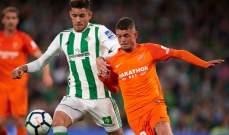الليغا الاسبانية : ريال بيتيس يقلب الطاولة ويحقق فوزاً صعباً على ملقا