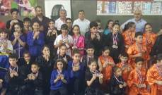 لقب بطولة لبنان لفئة الصغار  في الكونغ فو لنادي بودا