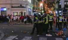 اصابة مشجعين إنكليز في اشتباكات مع شرطة مكافحة الشغب في بورتو