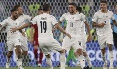 التشكيلات المتوقعة لمباراة إيطاليا وسويسرا الليلة