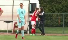 فيديو شجار بين لاعبتين