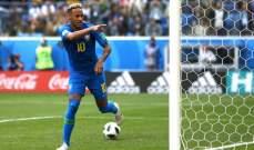 نيمار يصبح الهداف رقم ثلاثة في تاريخ البرازيل