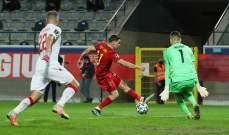 احصاءات عن منتخبي بلجيكا وبيلاروسيا بعد المباراة بينهما