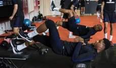 ماركوس راشفورد في التمارين البدنية