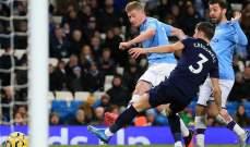 علامات وأهداف لاعبي مباراة مانشستر سيتي - ويست هام يونايتد