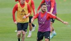 ثنائي بلجيكا يواصل الغياب عن التدريبات قبل موقعة ايطاليا