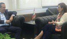 الوزيرة أوهانيان ترعى لقاء لبنان والبرازيل في كأس ديفيس بالتنس