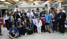 اختتام بطولة لبنان العامة في لعبة السكواش
