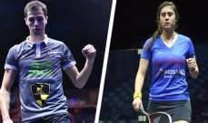 نور الشربيني وعلي فرج في ربع نهائي بطولة العالم للإسكواش