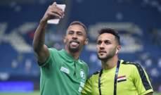 """صورة """"سيلفي"""" اخوية تجمع بين لاعبين من السعودية والعراق"""