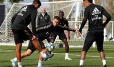 وجه جديد في تدريبات ريال مدريد لمواجهة ايبار