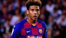 لاعب برشلونة المصاب بالكورونا يوجه رسالة الى الجماهير
