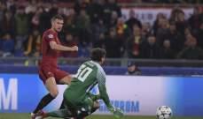 روما يجتاز عقبة شاختار دونيتسك في الاولمبيكو ليعبر الى ربع النهائي