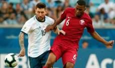 علامات لاعبي مباراة الأرجنتين - قطر