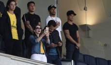 نيمار يتابع من المدرجات مباراة البرازيل وبنما