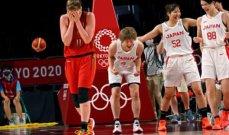سيدات اليابان لكرة السلة في الدور النصف نهائي من طوكيو 2020