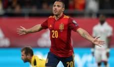 سانتي كازورلا ينهي الصيام مع إسبانيا بعد 4 سنوات
