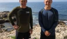 كيفن ماغنسن يتمرن على شاطئ موناكو