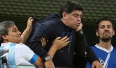 اللحظات الاخيرة قبل تعرض مارادونا لنوبة التشنج