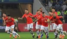 علامات لاعبي مباراة تشيلي - كولومبيا