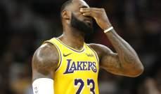 ليبرون يعود للغياب عن مباريات فريقه في NBA