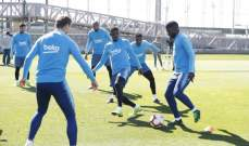 تدريبات برشلونة تشهد عودة ديمبيلي وسيليسن