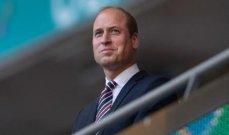 الأمير وليام يتمنى التوفيق لمنتخب إنكلترا في نهائي  يورو 2020