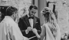 قائد اتليتيكو غودين يحتفل بزفافه بحضور زملائه