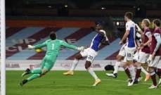 الدوري الانكليزي: بيرنلي يحقق فوزه الاول هذا الموسم بتخطيه كريستال بالاس