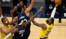 NBA: لوس انجلوس ليكرز يتابع الضغط على يوتا جاز