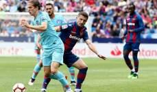 أتلتيكو مدريد يختم موسمه بالتعادل أمام ليفانتي في اليوم الأخير لغريزمان