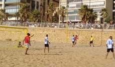 فوز الريجي والجيش في بطولة لبنان للشاطئية
