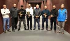 بطولة جبل لبنان في رماية المسدس : اللقب لحلو وابي حيدر وصيفه