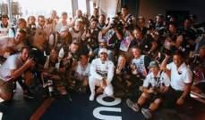 صورة  تجمع مصوري الفورمولا 1 مع لويس هاميلتون