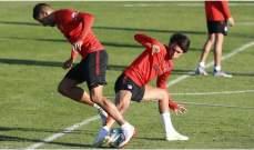 اتلتيكو مدريد ينهي تحضيراته لمباراة شيفاز