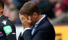 دي بور يعرب عن خيبة أمله لإقالته من تدريب كريستال بالاس